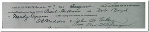 Pearl Williams Marriage Record