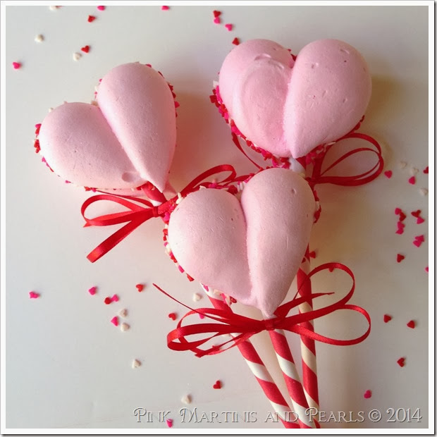 meringue heart pops for West Elm