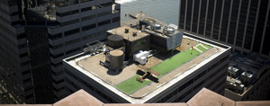 Aircraft on a Manhattan roof