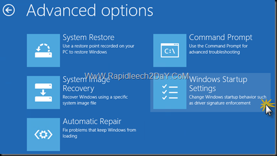 Boot-Safe Mode di Windows 8