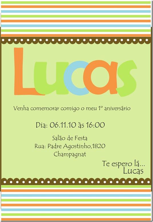 Convite Retrato Lucas