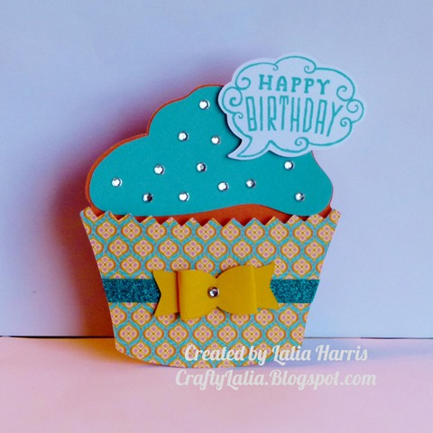 Artiste Cupcake Card with Cloud 9 card kit from CTMH  Available January 2014 only 1