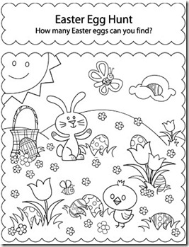 Teaching the Little Ones English : EASTER COLOURING WORKSHEETS