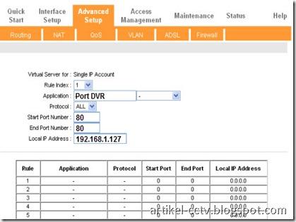 menu virtual server