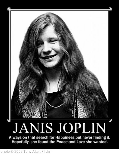 'Janis Joplin' photo (c) 2009, Tony Alter - license: http://creativecommons.org/licenses/by/2.0/