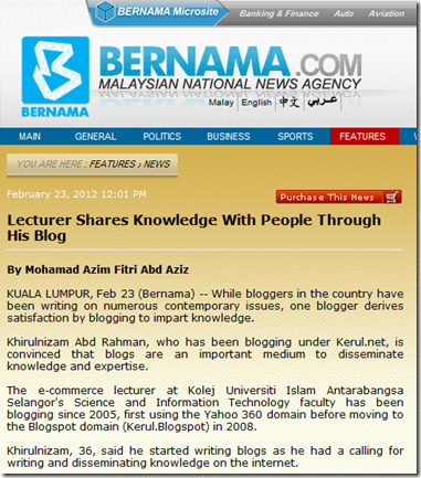 LECTURER SHARES KNOWLEDGE WITH PEOPLE THROUGH HIS BLOG