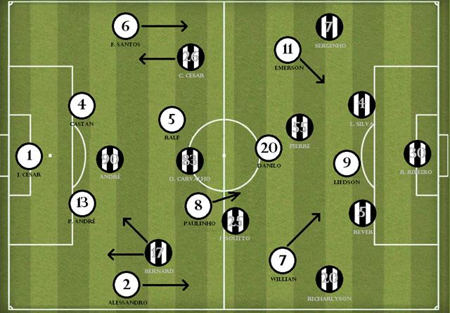 Corinthians 2-1 galo
