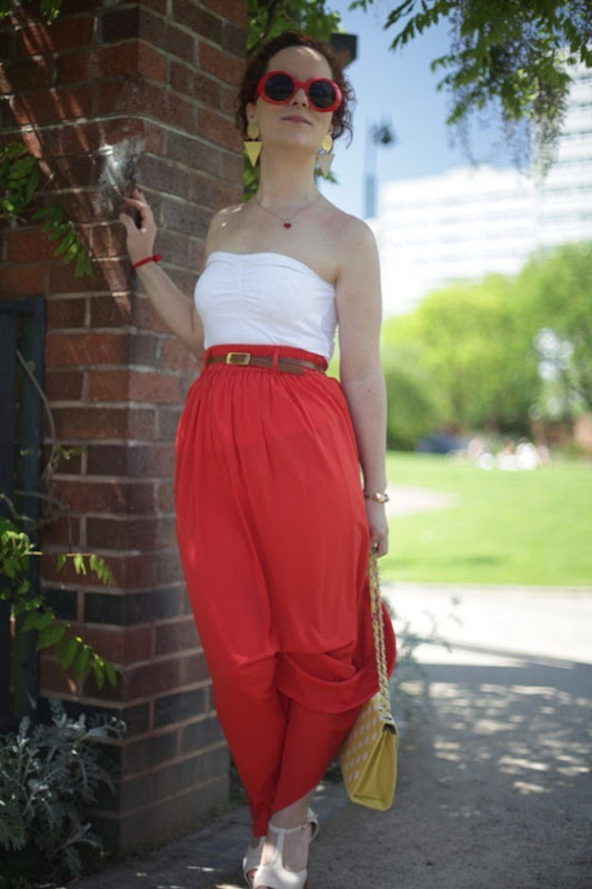 OOTD Maxi Skirt Strapless Top Summer Time Casual (3)