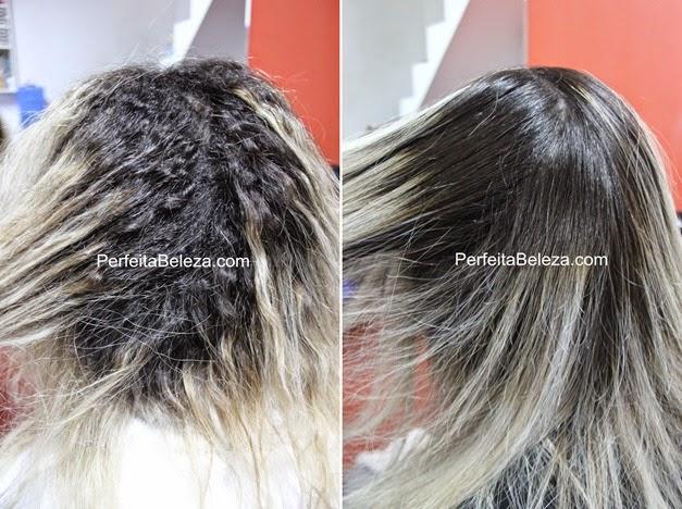 antes e depois da progressiva magnific hair