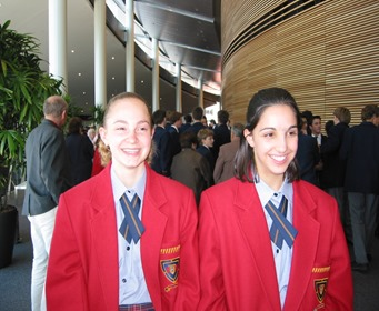 Here's us at Speech Day in year nine.