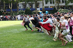 The traditional 'run for the Lawn.' (photo courtesy of Bryant Park Blog)