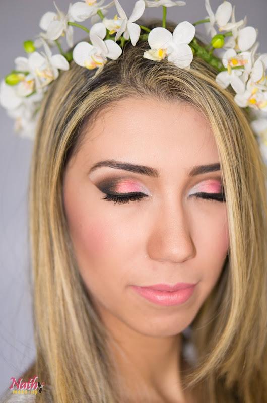maquiagem noiva usando pigmento