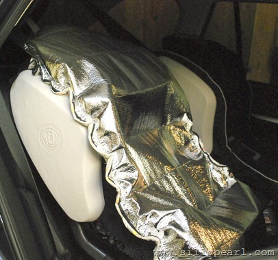 The Silly Pearl: DIY Car Seat Sun Shade