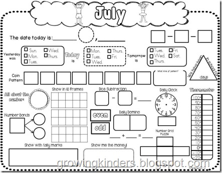 math worksheet : growing kinders it s calendar time! : Calendar Math Worksheet