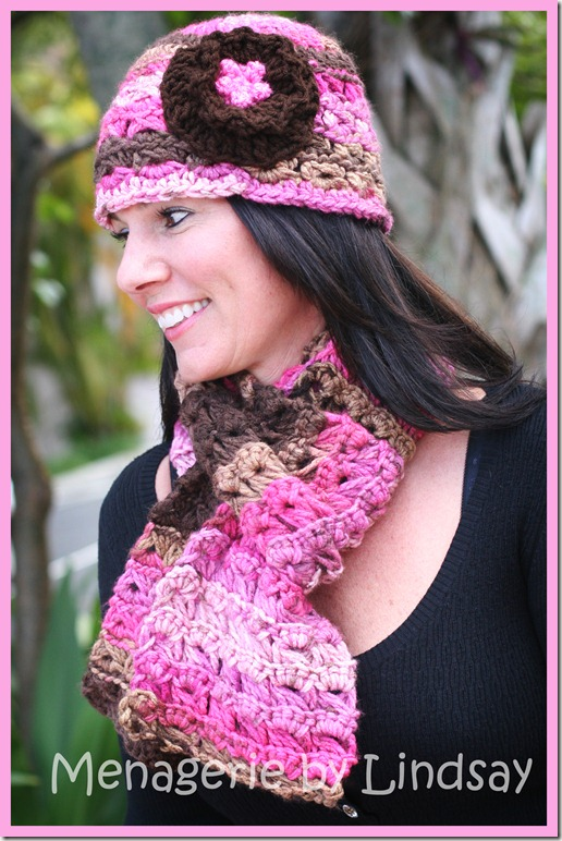 Broomstick Lace Hat & Scarf