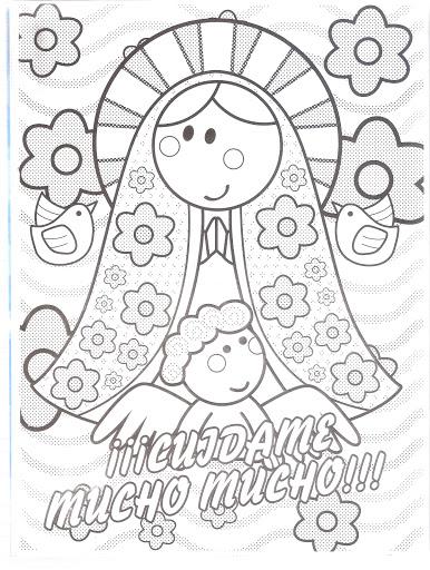 Dibujos Para Colorear De La Virgencita