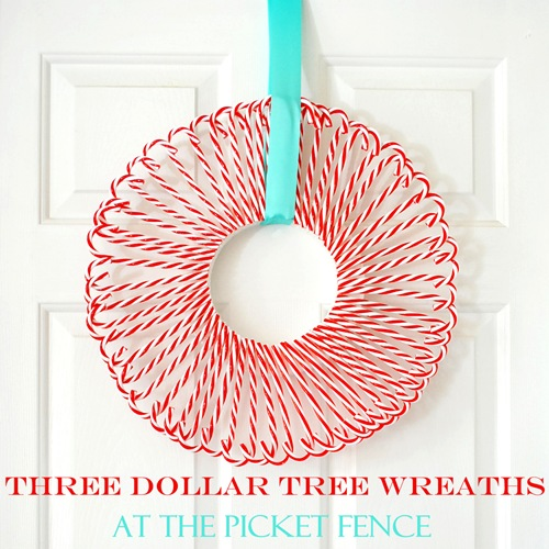 Three Dollar Tree Wreaths - At The Picket Fence