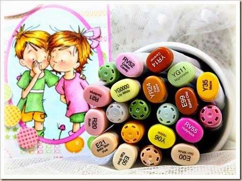 Sassy Cheryl's Stamps, copics