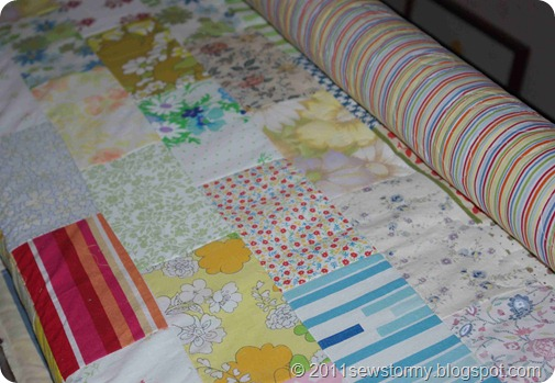 Steffanie's brick row quilt