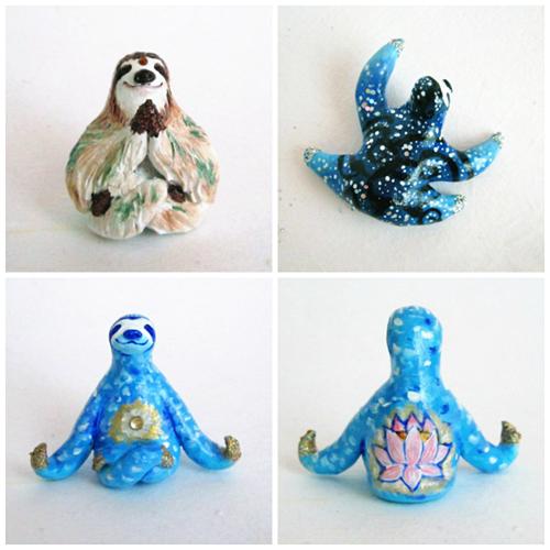 sloth figurines