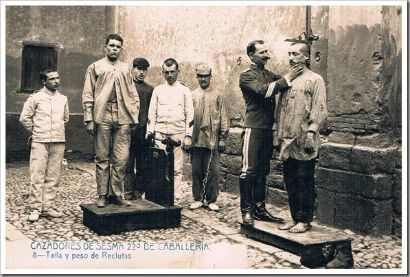1905 talla de reclutas