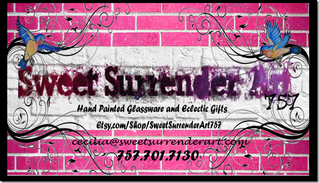 etsy business cards black border