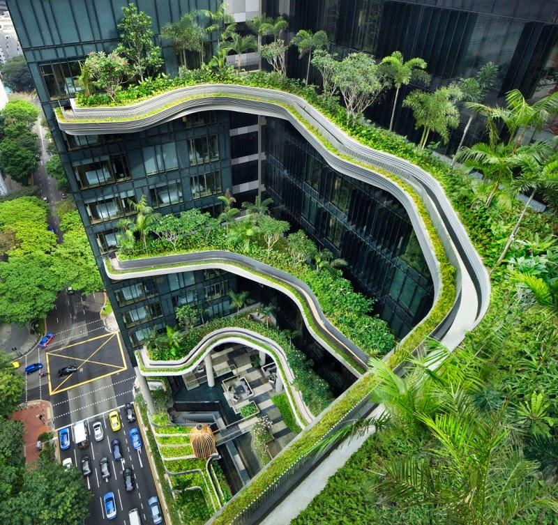 Tòa nhà trồng nhiều cây xanh