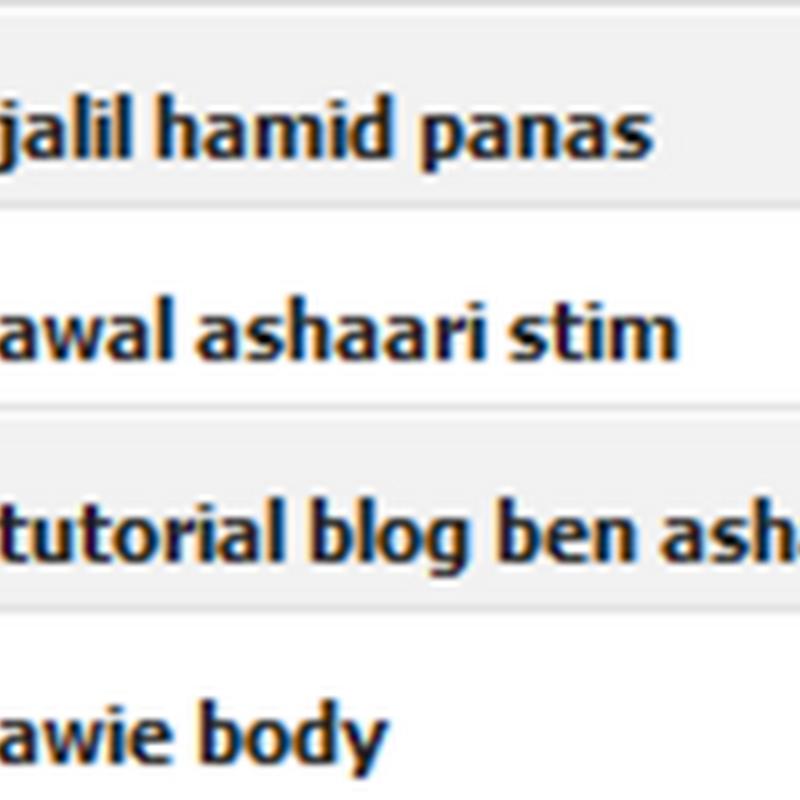 """"""" Awal Ashaari stim ? """""""