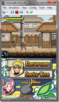 Скриншоты NDS Naruto Shippuuden Naruto vs Sasuke