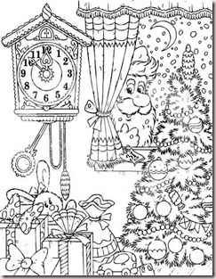 1_free_christmas_coloring_pages_printables 104259 royalty free rf clipart illustration of a christmas coloring page 16