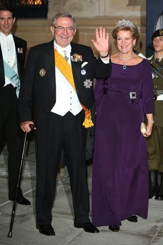 Los Reyes Constantino y Ana María de Grecia