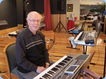 Peter Brophy played his Korg Pa900 for us. Photo courtesy of Dennis Lyons