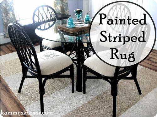 painting stripes on rug