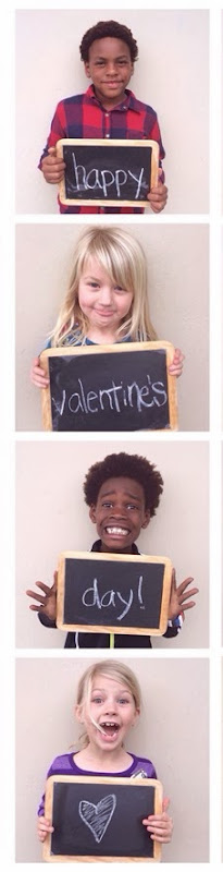 easy photobooth strip DIY #Valentines for #valentinesday