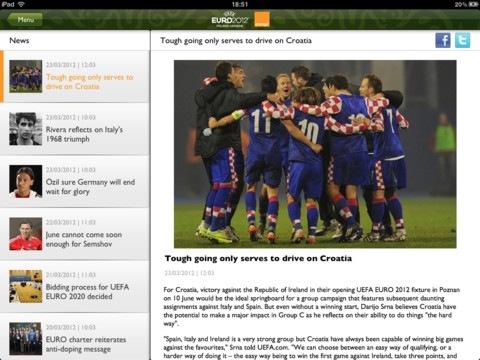 uefa euro 2012 en el ipad