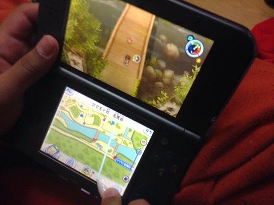 Mineboy jogando Yo-Kai Watch 2: ShinUchi