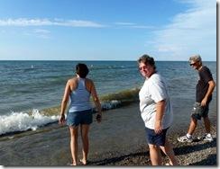 Tricia, Gin and Dan at Lake Erie-Geneva State Park (OH)