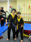 Khai and Kai with their new belts