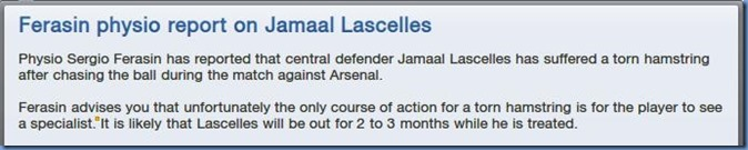 Injury of Lascelles