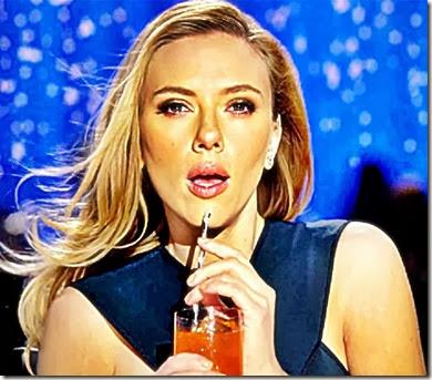 Scarlett Johansson sipping SodaStream Beverage 2