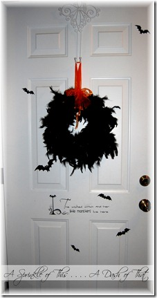 Halloween Front Door {A Sprinkle of This . . . . A Dash of That}