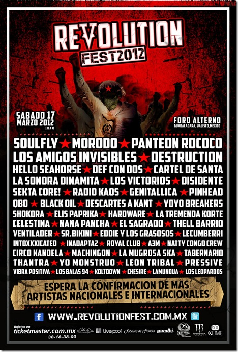 revolution fest flyer oficial de bandas
