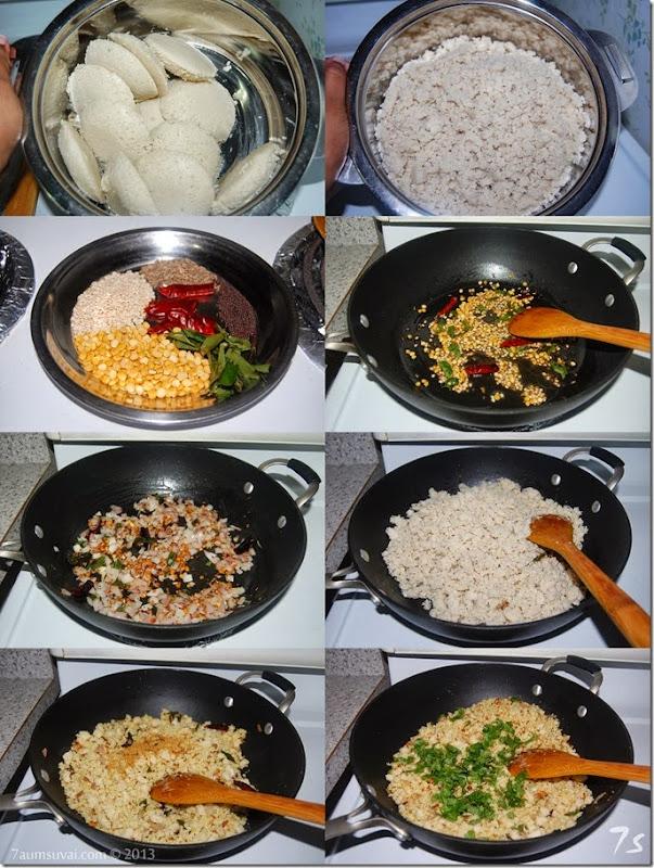 Quinoa idly upma process