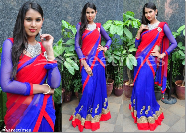 Honey_Blue_Half_Saree