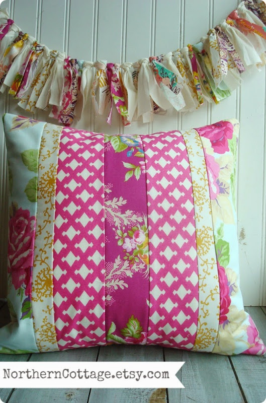 Quilted Pillow Cover {NorthernCottage}