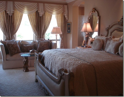 Indian Wells Interior Design bedroom drapes upholstery