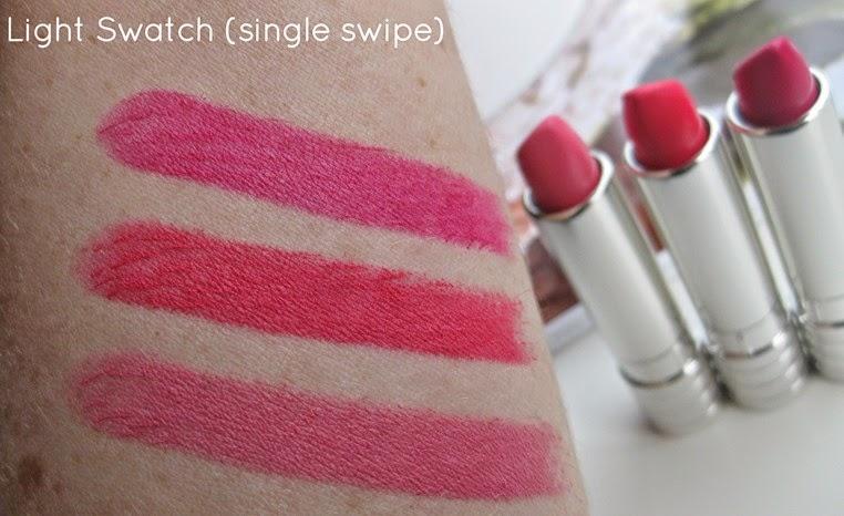 Clinque-soft-matte-lipstick-swatches-matte-magenta-matte-peony-matte-petal