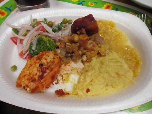 Thanksgiving dinner, Peruvian style