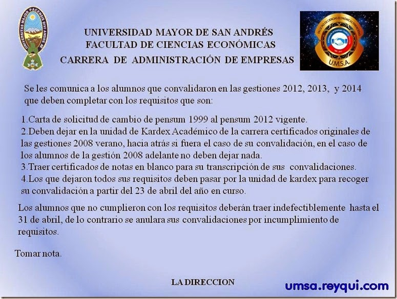 Administración de empresas de la UMSA