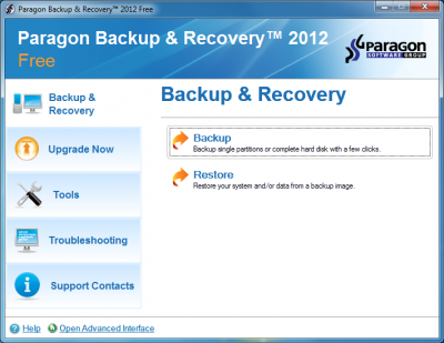 Paragon Backup & Recovery 2012 Free Version